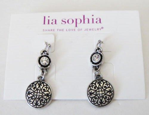 Lia Sophia Jewelry Scrapbook Earrings NWT