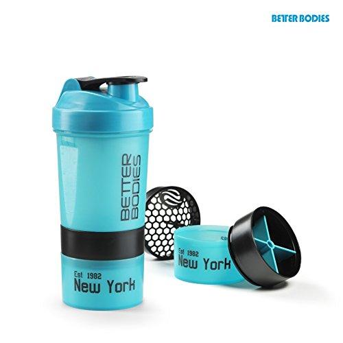 Better Bodies Pro Shaker (600ml), Größe:Universalgröße;Farbe:aqua/schwarz