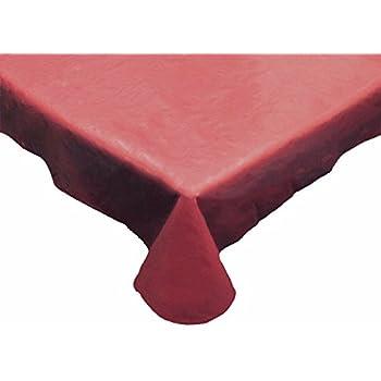 Delightful J U0026 M Home Fashions Solid Burgundy Round Vinyl Tablecloth, 70u0027