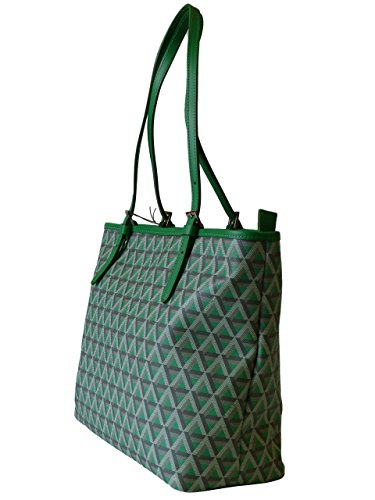 Lancaster Tasche Ikon Tote Bag 418-03-Vert_Prairi Damen Ledertasche Handtasche Shopper Schultertasche Grün (33x26x13 cm)