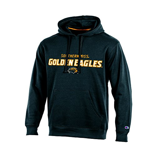 (Champion NCAA Southern Mississippi Golden Eagles Adult Men Pullover Hooded Fleece, Small, Black)