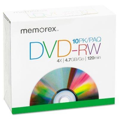 Memorex - 10-Pack 2x DVD-RW Disc Spindle