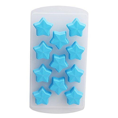 Rurah Creative Fruit Series and Five-pointed Star DIY Cake Baking Chocolate Silica Gel Ice Lattice Handmade Soap Silicone Mold,Five-pointed star