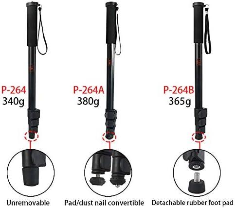Semoic P-264 New Portable Lightweight 47Cm Monopod Aluminum Camera Stand Witn Phone Clip for DSLR Camera Video