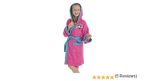 Secaneta - Albornoz Infantil para niña. Bata de baño Chica con Dibujos Bordados. Unicornio (10 a 12 años / 10 to 12 Years Old): Amazon.es: Hogar