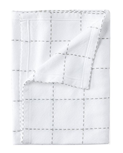 Serena & Lily Windowpane Stitched Baby Blanket