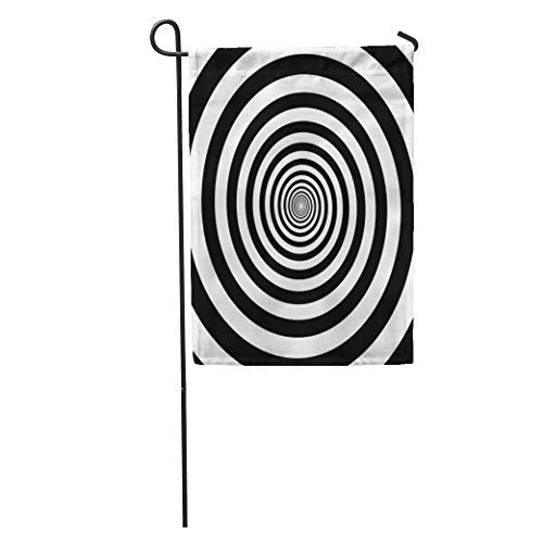 Semtomn Garden Flag Hypnotic Circles Abstract Optical Spiral Swirl Hypnotize Circular Pattern Home Yard House Decor Barnner Outdoor Stand 28x40 Inches Flag