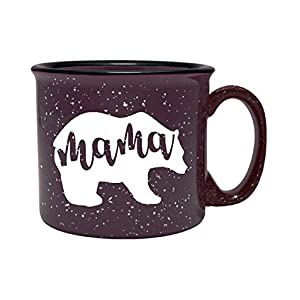 world of handmade gifts-Plum Mama Bear Coffee Mug