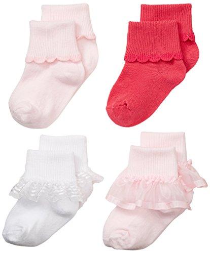 Nuby 4 Pack Ruffle Socks Months