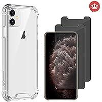 Capinha Anti Shock Case iPhone 11 6,1 Polegadas + 2x Películas de Vidro Anti-Espião Privacidade Fumê