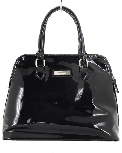 c093b727ff Black Patent Leather Ladies Handbag In Black Colour.  Amazon.co.uk  Shoes    Bags