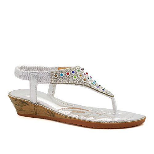 Footwear bride silver femme a London TqaO7q
