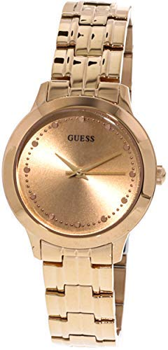 Guess Womens Analogue Classic Quartz Watch with Stainless Steel Strap W0989L3