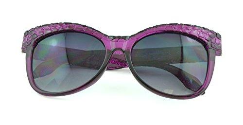 Belle Donne - Womens Fashion Kitten Retro Cat Eye Sunglasses - Orchid Snake Skin (Sunglasses Motorcycle Review)