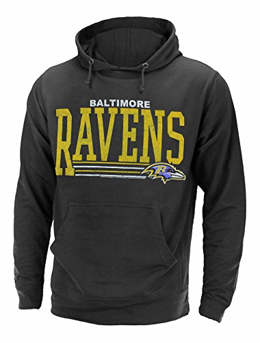 Junk Food Baltimore Ravens NFL Men's Fundamentals Pullover French Terry Hoodie, Black