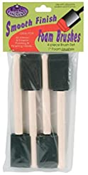ROYAL BRUSH RFOMW-4P Foam Brush, 4-Pack