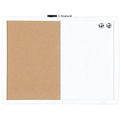 "23/"" x 17/"" Combo White Board /& Cork Quartet Combination Whiteboard /& Corkboard"