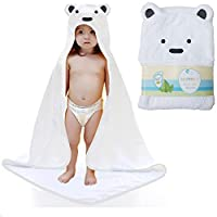 Baby Hooded Towel - 100% Cotton Keeps Baby Dry and Warm - Ultra Soft, Thick a...