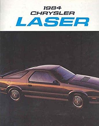 Amazon.com: 1984 Chrysler Laser & Daytona Turbo Z Brochure Canada: Entertainment Collectibles
