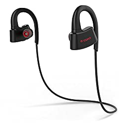 G-Cord Bluetooth 4.1 Wireless Sport Headphones, Level IPX7 Waterproof Earbuds with Microphone, Hands-Free Calling, Switchable Sound Effects and Carrying Case from Berskin INC