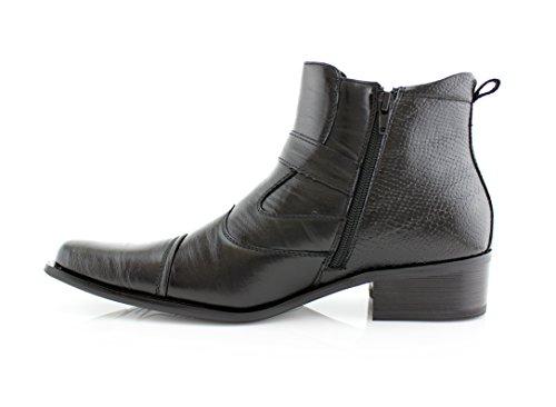 Boots Delli Men's Aldo High Ankle Strap Black Buckle Dress Shoes qr057q