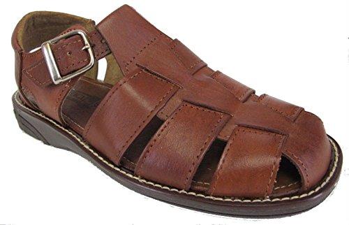 Heren Authentieke Lederen Zachte Handgemaakte Sandalen (340) Flip-flop Slip Op Huaraches Bruin