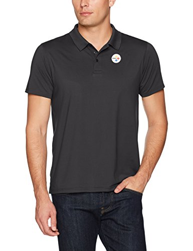 Black Shirt Pittsburgh Crew Steelers (OTS NFL Pittsburgh Steelers Men's Sueded Short Sleeve Polo Shirt, Jet Black, XX-Large)