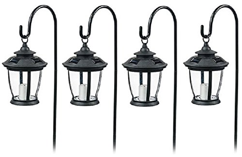 Four Seasons TV29960BK Black, Solar Candle Pathway Lantern Lights - Quantity ()