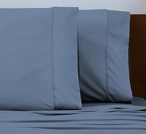SHEEX - ORIGINAL PERFORMANCE Sheet Set with 2 Pillowcases, Ultra-Soft Fabric Transfers Body Heat and Breathes Better than Traditional Cotton, Carolina Blue (Queen) by Sheex (Image #4)'