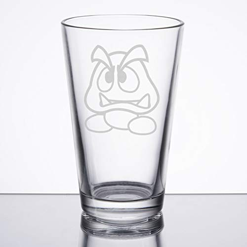 Super Mario Bros - Goomba - Etched Pint Glass