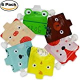 baby food squeeze pouches station - Reusable Food Pouch for Homemade Organic Baby Food Refillable Squeeze Pouches with Leak Proof Double Zipper BPA Free Self Standing Country Animals 6 Pack