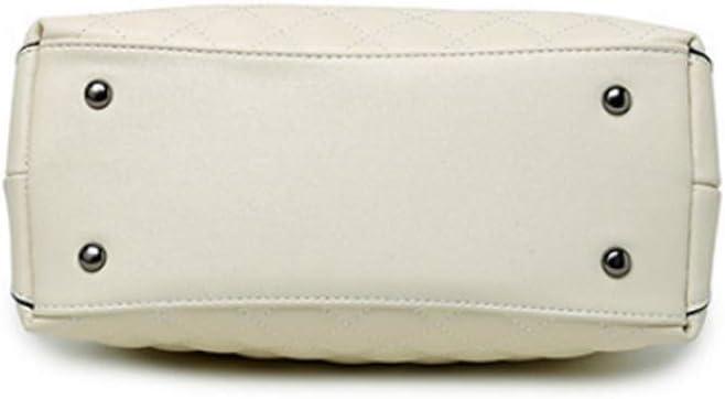 NCCDY Schwarz, Weiß Leder-Handtasche, Frauen-Aktenkoffer-Laptop-Taschen-Tasche Vintage-Leder-Handtaschen-Schulter-Arbeitsbörsen (Color : Black) Black