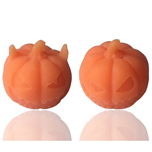 KKYT Squishy Toys, Stress Reliever Squeezable Stress Relief Squeeze Squishies Fun 2Pcs Halloween Cute Pumpkin Healing Stretch Abreact Fun Toy Friends Toys for Boys Girls Adults Anxiety Reducer (B)