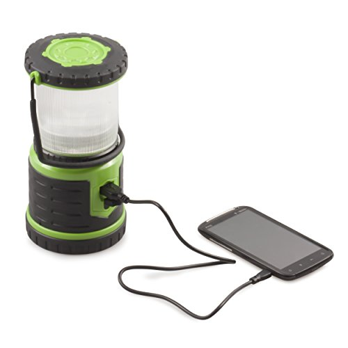 Blazin' Bison Brightest Rechargeable LED Lantern   400 Hour Runtime   Phone Charger   Hurricane, Emergency, Storm (400 Lumen, Green) by Blazin' Bison (Image #3)
