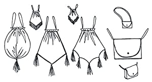 Victorian Wigs, Hand Fan, Purse, Gloves Accessories Pouch Reticule Purse and Gipsere Pattern $9.95 AT vintagedancer.com