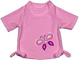i play Baby Girls\' Tie Rashguard (Baby) - Light Pink - Medium (12 Months)