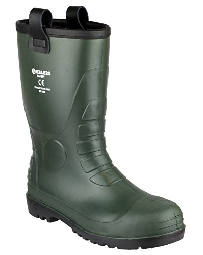 Footsure 97 PVC Rigger Safety Wellingtons Green Green Size 6