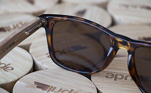 madera 171 de polarizadas con sol Modelo unisex hombre Gafas W mano natural april® a de hechas mujer patillas Fq0pnf