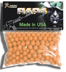 .43 Caliber Paintballs - 200ct (Orange) by RAP4
