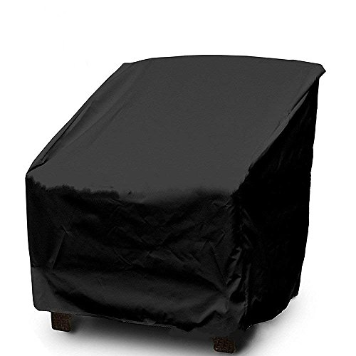 (WOMACO Patio Chair Cover Out Furniture Protector Weather & Waterproof Patio Cover (L, Black))
