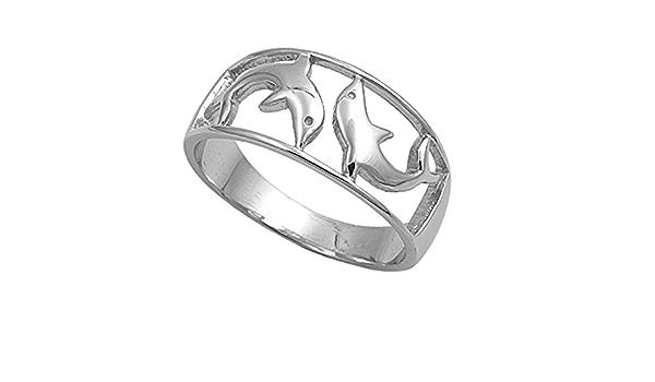 Delfines Kissing encanto De Plata.925 X 1 Dolphin encantos sslp1145