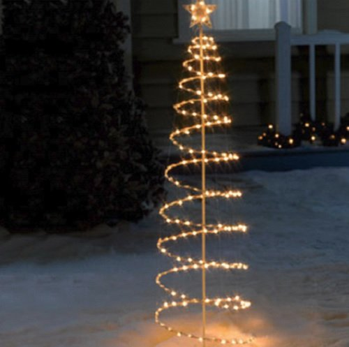 Spiral Lighted Trees For Outdoors - 8