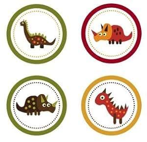 Amazon.com: Retro Dinosaurs Edible Cupcake Toppers ...