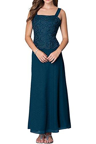 mia Abendkleider Blau Braut Wadenlang Spitze Tinte Promkleider Traeger Brautmutterkleider Damen Abiballkleider Zwei La pwgqaAdxA