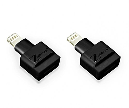 Cellularize Extender Adapter (Black, 2 Pack) Male to Female Audio, Video Dock Charger Extension for Lifeproof, Otterbox Cases