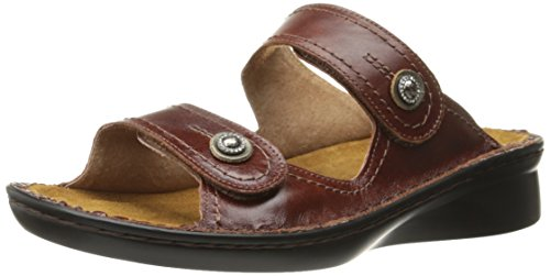 NAOT Women Sitar Wedge Sandal Cinnamon Leather