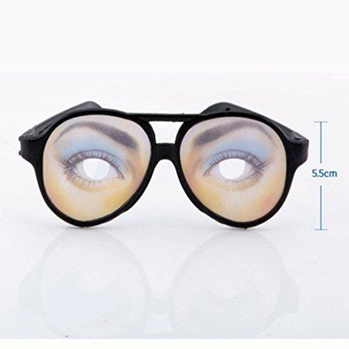 Wensltd Halloween Funny Glasses Fake Novelty Gag Prank Eye Ball Joke Toy (A) (Halloween Sports Pranks)