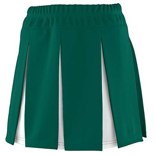 Augusta Sportswear Girls' Liberty Skirt M Dark Green/White