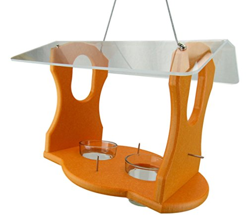(JCs Wildlife Ultimate Recycled Poly Oriole Bird Feeder Fruit and Jelly Buffet)