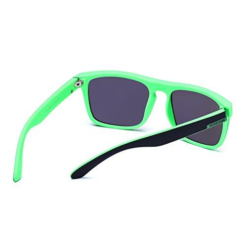 Green Mirror soleil Lunettes Frame de Black Homme Lens Medium Multicoloured KDEAM 8qzxOnAz